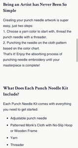 Punch Needle Kit- Hummingbird