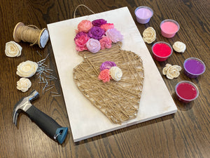 Jessie Collection: String Art and Wood Flower Kit