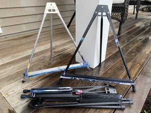Used Aluminum Black Table Top Easel from events
