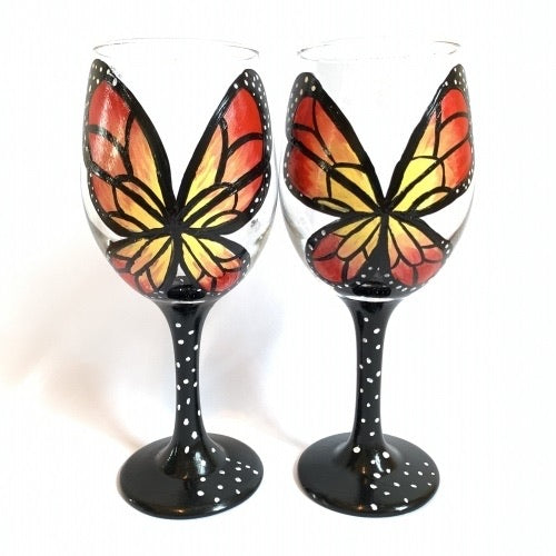 Butterfly Wine Glasses