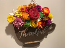 Load image into Gallery viewer, Sola Wood Flower Tea Cup and Fall Theme
