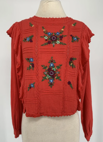 free people embroidered shirt
