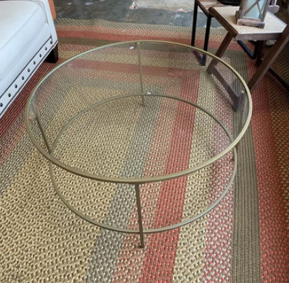 West Elm Glass Coffee Table