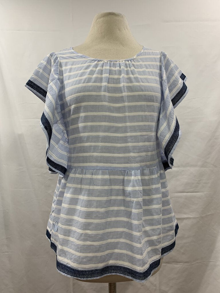 J. Marie Top Womens Blue/White S