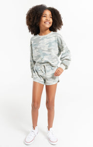 Girls Mia Camo Short