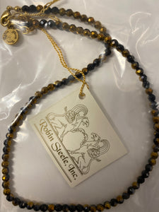 Black/Gold Bead Necklace