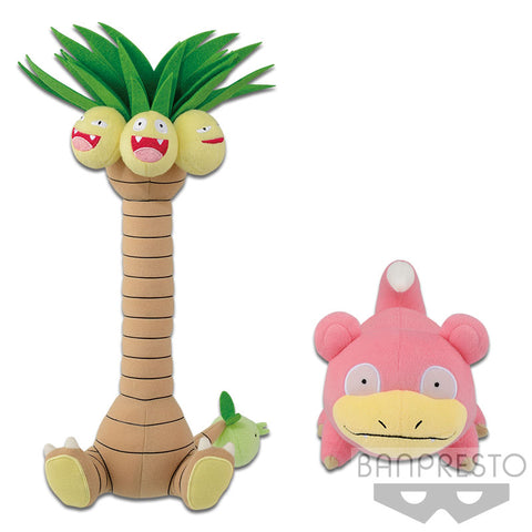 Pokemon Alolan Exeggutor and Slowpoke Plush Banpresto