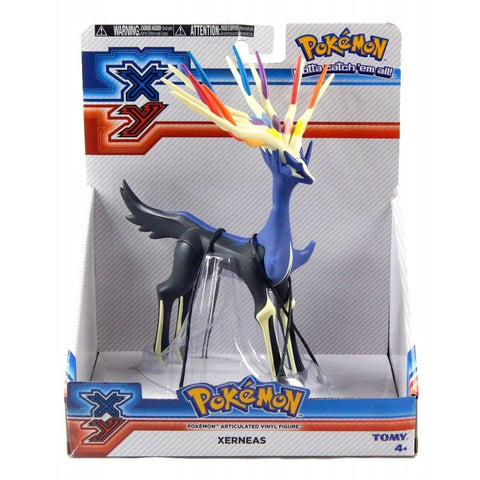 Pokemon Xerneas Tomy Large Size Articulated Vinyl Action Figure