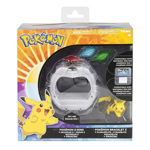 Pokemon Z-Ring Tomy Set for Sun and Moon with Pikachu Figure