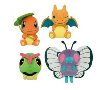 Pokemon Movie Korotto Manmaru Plush Charmander Charizard Caterpie Butterfree