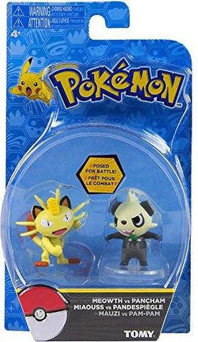 Pokemon Meowth and Pancham Tomy Figure Double Pack Sun and Moon