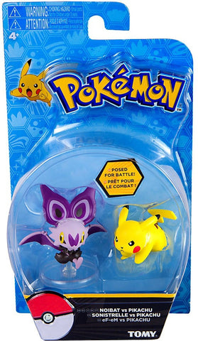 Pokemon Noibat and Pikachu Tomy Figure Double Pack Sun and Moon