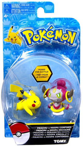 Pokemon Hoopa and Pikachu Tomy Figure Double Pack Sun and Moon