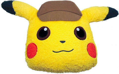 Pokemon Detective Pikachu Fuzzy Face Cushion Plush