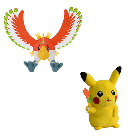 Pokemon Official Movie 20th Anniversary Plush Pikachu and Ho-Oh