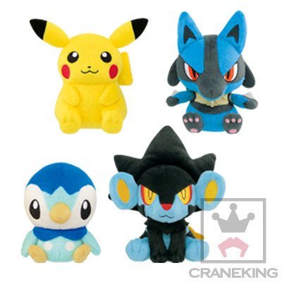 Pokemon I Choose You! Movie Korotto Manmaru Plush Pikachu Piplup Lucario Luxray