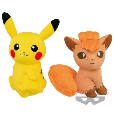 "Pokemon Pikachu and Vulpix ""Look at the Tail!"" Plush"