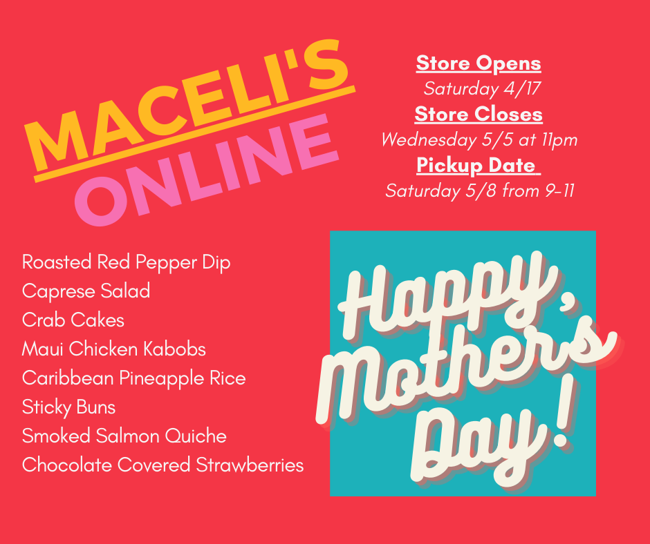 Mother's Day Menu - Now Available!