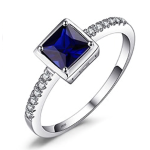 S925 Created Sapphire Ring
