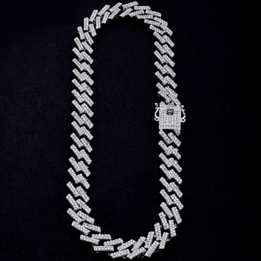 Iced Prong Link Chain