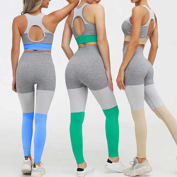 Lumeverse Seamless Yoga Gym High Waist Leggings Set