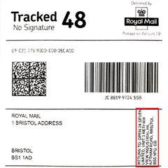 Royal Mail label