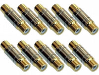 Female To Female RCA Phono Adapter (Gold Plated) x 10 - SpyCameraCCTV