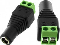 Female Jack Plug Connector 2.1mm Inner Diameter and Screw Terminal x10 - SpyCameraCCTV