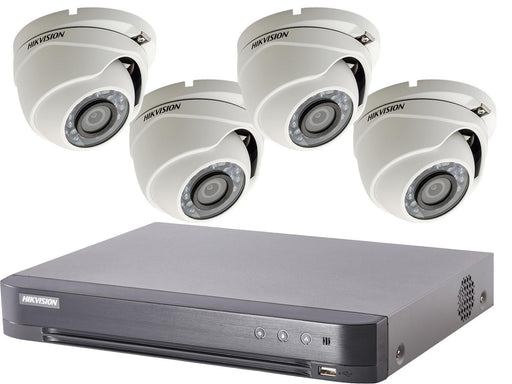 4 Camera Hikvision TVI CCTV System - 1080p HD with PoC DVR - SpyCameraCCTV