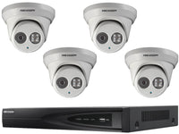 Hikvision 4 Turret Camera 4MP IP CCTV System with 30m IR, NVR - SpyCameraCCTV