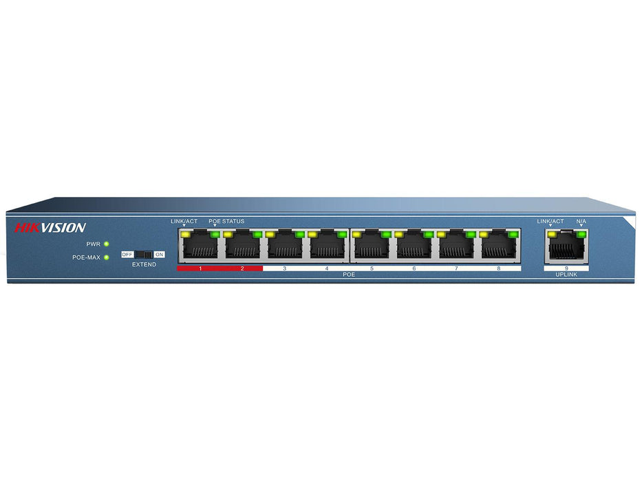 Hikvision 9 Port PoE Network Switch - SpyCameraCCTV
