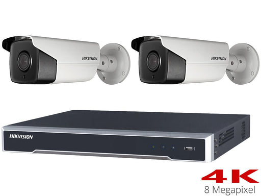 Hikvision 4K CCTV System with 2 50m Bullet Cameras, NVR - SpyCameraCCTV