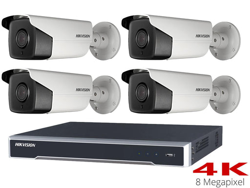 Hikvision 4K CCTV System with 4 50m Bullet Cameras, NVR - SpyCameraCCTV