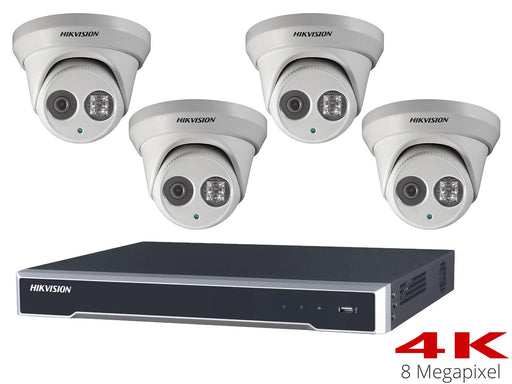 Hikvision 4K CCTV System with 4 30m Turret Cameras, NVR - SpyCameraCCTV