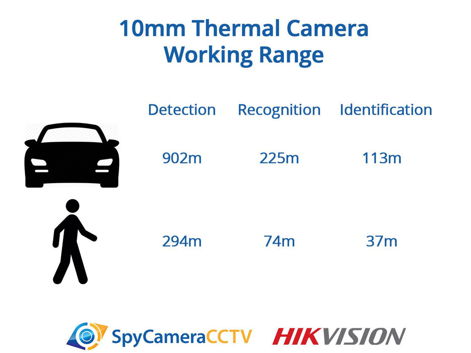 Hikvision Thermal IP Bullet Camera with 10mm Lens - SpyCameraCCTV