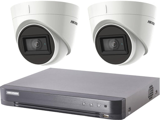Hikvision Turbo HD 8MP CCTV system with 2 Turret Cameras - SpyCameraCCTV