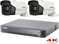 Hikvision Turbo HD 8MP CCTV System with 2 Bullet Cameras - SpyCameraCCTV