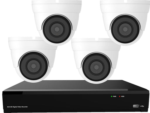 Gamut 2MP HD-TVI 4 Turret Camera CCTV System - SpyCameraCCTV