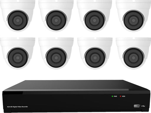 Gamut 2MP HD-TVI 8 Turret Camera CCTV System - SpyCameraCCTV
