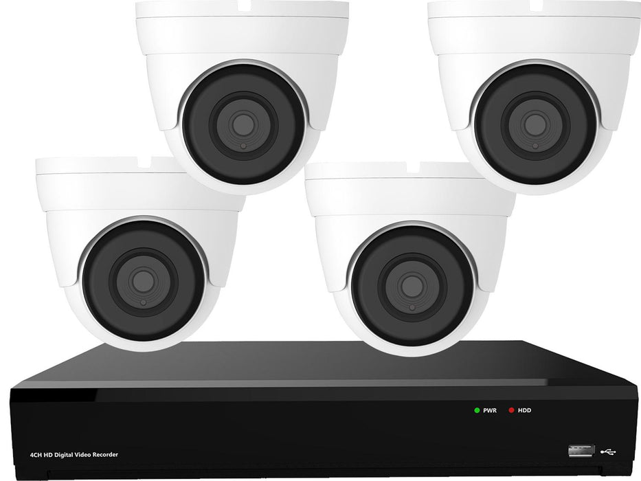 Gamut 8MP IP 4 Turret Camera CCTV System - SpyCameraCCTV