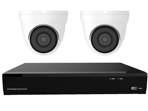 Gamut 2MP HD-TVI 2 Turret Camera CCTV System - SpyCameraCCTV