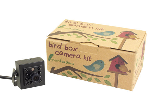 Green Feathers 1080p HD Wired Bird Box Camera - Watch On Your TV - SpyCameraCCTV