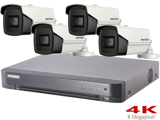 Hikvision Turbo HD 8MP CCTV System with 4 Bullet Cameras - SpyCameraCCTV