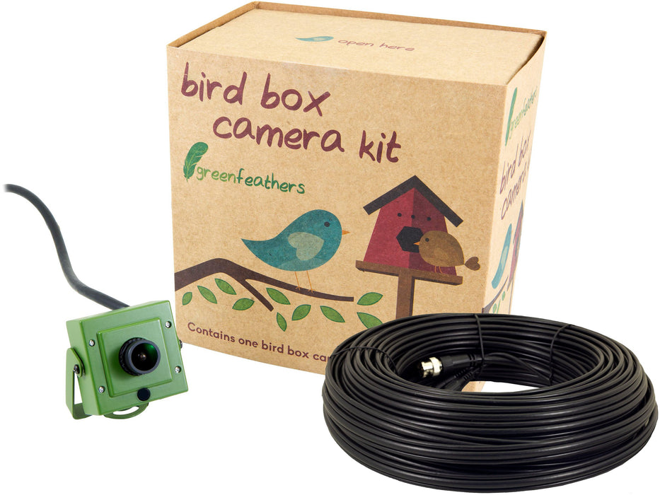 Green Feathers 4K Bird Box Camera Kit