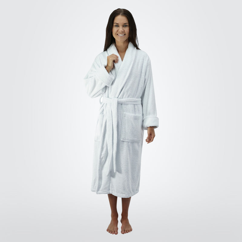 THIRSTY Towels Turkish Cotton Robe Hooded Light Presidential Robe for Men and Women