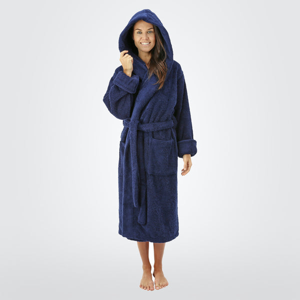 Women s 20 oz. Deluxe Turkish Cotton Hooded Bathrobe - ComfyRobes.com 52bc65ed2
