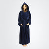 Women's Terry Velour Hooded Bathrobe