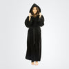 Women's Terry Velour Hooded Bathrobe - ComfyRobes.com
