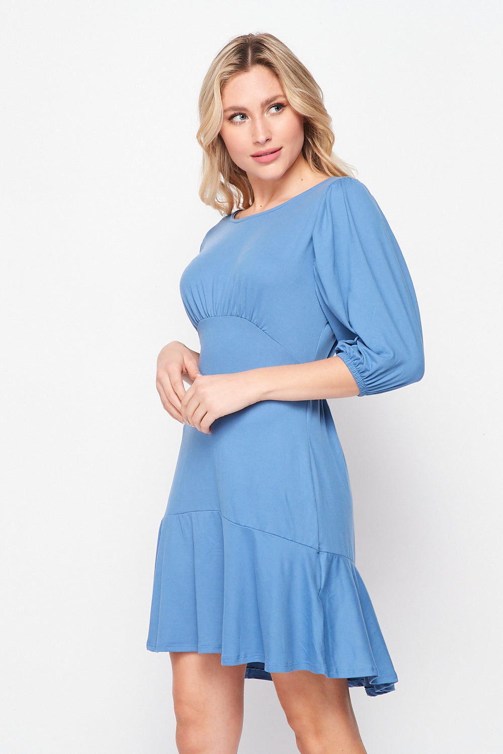 Dance With Me Vintage Inspired Knit Dress | Light Blue - Velvet Torch