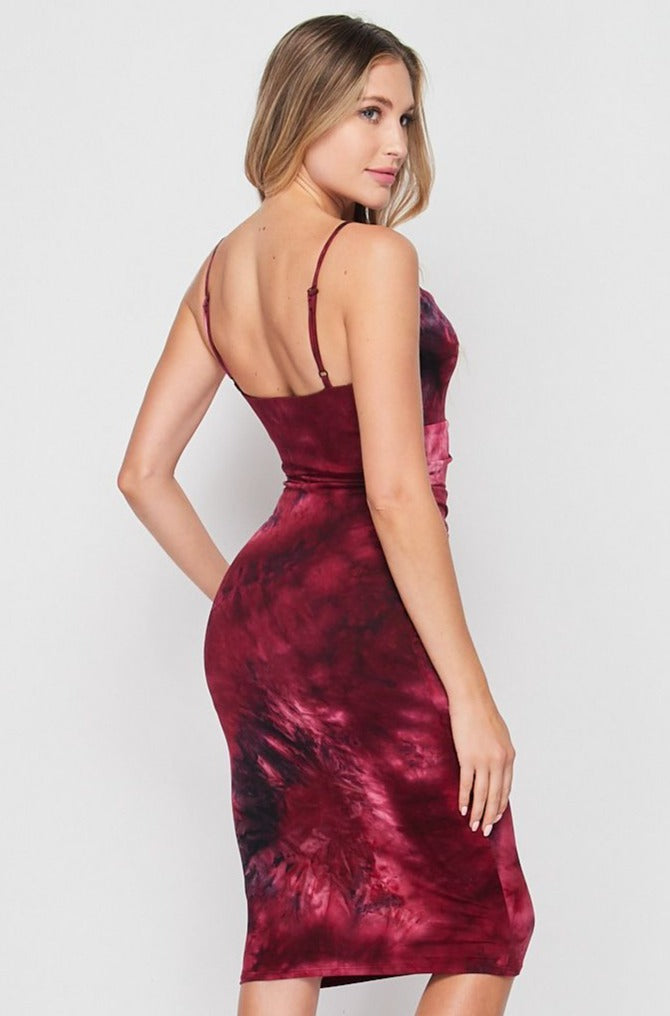 Side Rouched Tank Dress | Tie Dye - Velvet Torch